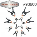 "PONY 14PC SPRING CLAMP SET 6X3/4"" 4X1"" 2X2"" 2X3"""