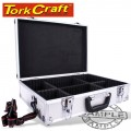 ALUMINIUM CASE 42.5 X 28.5 X 12 WITH 5 X DIVIDERS
