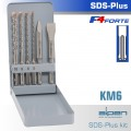SDS PLUS MIXED SET SDS 5 6 8 10MM X 160-CHISEL-FLAT 20 X 140-POINT 140