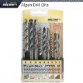 ALPEN 9 PCE SET WOOD.HSS SUPER AND MASONRY 5MM-6MM AND 8MM