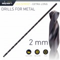 HSS DRILL BIT 2MM 125 X 85 EXTRA LONG