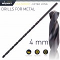 HSS DRILL BIT 4MM 175 X 120 EXTRA LONG