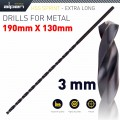 HSS DRILL BIT 3MM 190 X 130 EXTRA LONG