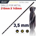 HSS DRILL BIT 3.5MM 210 X 145 EXTRA LONG