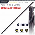 HSS DRILL BIT 4MM 220 X 150 EXTRA LONG