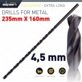 HSS DRILL BIT 4.5MM 235 X 160 EXTRA LONG