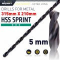 HSS DRILL BIT 5MM 315X210MM EXTRA LONG