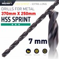 HSS DRILL BIT 7MM 370X250MM EXTRA LONG