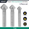 HSS COUNTERSINK SET - PCS 12.4 - 16.5 - 20.5MM