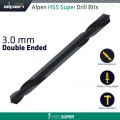 HSS SUPER DRILL BIT DOUBLE ENDED 3.0MM 1/PACK