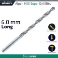 HSS SUPER DRILL BIT LONG 6 X 139MM POUCH
