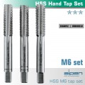 HAND TAP SET IN POUCH M6 HSS 1.0MM PITCH