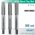 HAND TAP SET IN POUCH M8 HSS 1.25MM PITCH