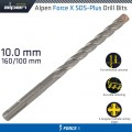 FORCE X 10.0 x160/100  SDS-PLUS DRILL BIT X4 CUTTING EDGES - BULK