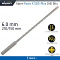 FORCE X 6.0 x 210/150 SDS-PLUS DRILL BIT X4 CUTTING EDGES - BULK