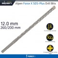 FORCE X 12.0 x 260/200  SDS-PLUS DRILL BIT X4 CUTTING EDGES - BULK
