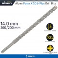 FORCE X 14.0 x 260/200  SDS-PLUS DRILL BIT X4 CUTTING EDGES - BULK