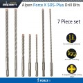 FORCE X SDS-PLUS MIX BOX 7 PCS. 6.0/ 8.0/ 10.0 MM X 160 AND 6.0/ 8.0/