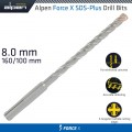 FORCE X 8.0 x 160/100 SDS-PLUS DRILL BIT X4 CUTTING EDGES
