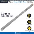 FORCE X 9.0 x 160/100 SDS-PLUS DRILL BIT X4 CUTTING EDGES