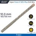 FORCE X 10.0 x 160/100  SDS-PLUS DRILL BIT X4 CUTTING EDGES