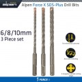 FORCE X SDS SET 3 PCS 6/8/10 MM X 160