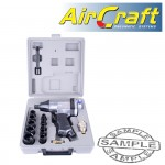 """AIR IMPACT WRENCH 1/2"""" 17 PIECE KIT SINGLE HAMMER"""