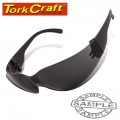 SAFETY EYEWEAR GLASSES GREY IN POLY BAG