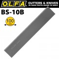 OLFA SCRAPER BLADES X10 FOR BSR200 & BSR300 100MMX0.5MM