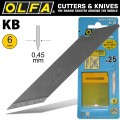 OLFA BLADES KB 25/PACK 6MM