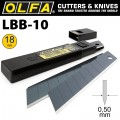 OLFA BLADES EXCEL BLACK 10 PACK ULTRA SHARP 18MM