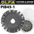 OLFA BLADES ROTARY PINKING CUTTER 1/PK 45MM