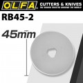 OLFA BLADES ROTARY RB45-2 2/PACK 45MM