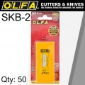 OLFA BLADES SKB-2 50/PACK FOR SK-4 AND SK-9 CUTTERS