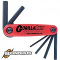 HEX END FOLD UP WRENCH 6PC 3-10MM GORILLAGRIP