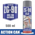 ZG-90 SILVER 500ML ZINC GALVANISED SPRAY COLD ZINC RAPID DRY