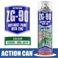 ZG-90 GREEN 500ML ANTI RUST SPRAY COLD ZINC GALVANISING RAPID DRY