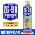 ZG-90 YELLOW 500ML ANTI RUST SPRAY COLD ZINC GALVANISING RAPID DRY