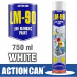 LM-90 WHITE 750ML LINE MARKING PAINT
