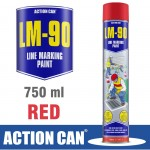 LM-90 RED 750ML LINE MARKING PAINT