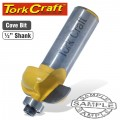 "COVE ROUTER BIT WITH BEARING 1/2""X1/2"""