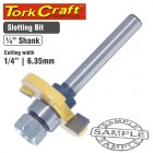 "ROUTER BIT SLOTTED 1/4"" (6.35MM"