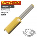 ROUTER BIT STRAIGHT 12MM