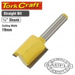 ROUTER BIT STRAIGHT 19MM