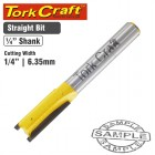 """ROUTER BIT STRAIGHT 1/4"""" (6.35MM)"""
