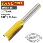 """ROUTER BIT STRAIGHT 7/16"""" (11.11MM)"""