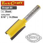 """ROUTER BIT STRAIGHT 9/16"""" (14.29MM)"""