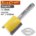 """ROUTER BIT STRAIGHT 3/4"""" (19MM)"""