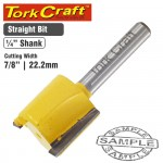 """ROUTER BIT STRAIGHT 7/8"""" (22.22MM)"""
