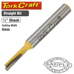 ROUTER BIT STRAIGHT 4MM